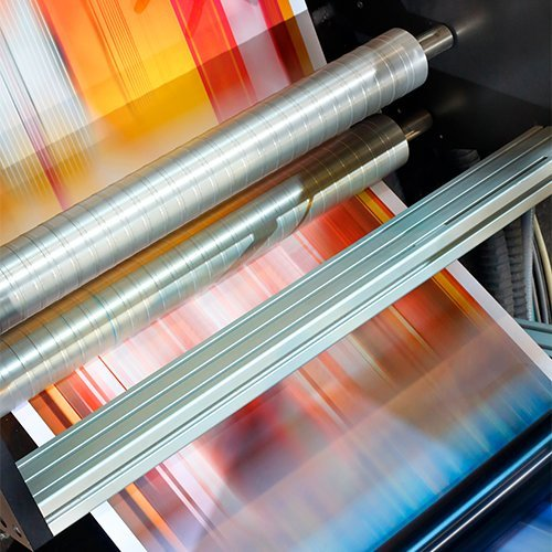 high speed printing press roller 4-color paper