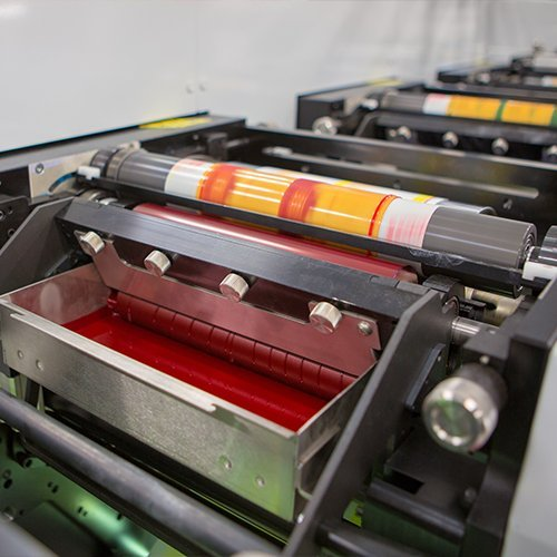 4-color cmyk printing press roller